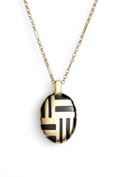 Women's Kate Spade New York 'Mod Moment' Pendant Necklace Black
