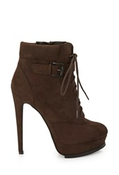 Forever 21 Platform Lace Up Booties