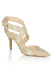 Daniel Maida Vale Thick Strap Court Shoes Cream