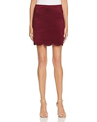 Aqua Faux Suede Mini Skirt Wine