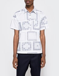 Creep By Hiroshi Awai Printed Cotton Pop Over Shirt White Paisley