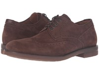 Aquatalia By Marvin K Carson Brown Dress Suede Men's Lace Up Casual Shoes