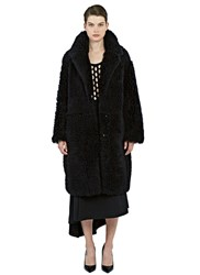 Drome Oversized Reversible Lamb Shearling Coat Black