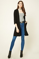 Forever 21 Textured Open Front Duster Coat