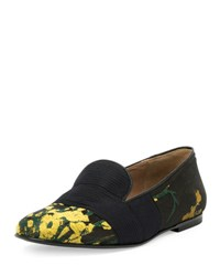 Dries Van Noten Embroidered Smoking Slipper Yellow Black