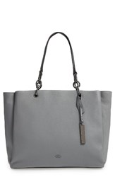 Vince Camuto Avin Leather Tote Grey Smog