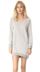 Sundry U Neck Dress Heather Grey