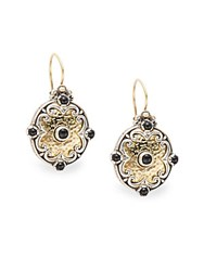 Konstantino Aspasia Onyx 18K Gold And Sterling Silver Drop Earrings Silver Gold