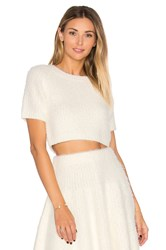 Lovers Friends Be Flirty Crop Top Ivory