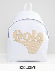 Gola Exclusive Classic Backpack In White And Nude White And Nude