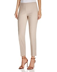 T Tahari Dayna Cropped Straight Leg Pants British Khaki