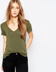 Asos The New Forever T Shirt Camel Green