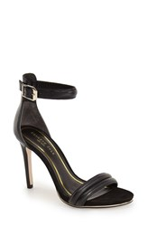 Kenneth Cole Women's New York 'Brooke' Ankle Strap Sandal Black Leather