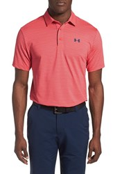 Men's Under Armour 'Playoff' Short Sleeve Polo Rocket Red