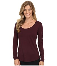 Lucy Long Sleeve Workout Tee Fig Women's Long Sleeve Pullover Brown