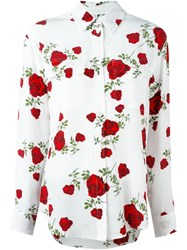 Equipment Rose Print Shirt White