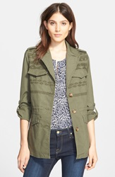 Joie 'Evandale' Embroidered Military Jacket Deep Army