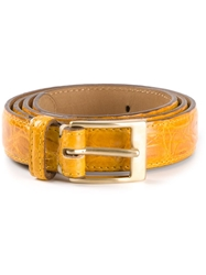 Fausto Colato Crocodile Leather Belt White