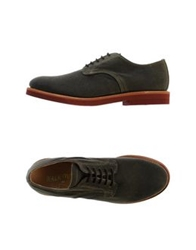 Walk Over Lace Up Shoes Dark Green