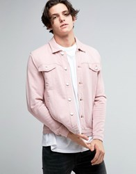 Asos Jersey Western Jacket In Pink Rose Smoke