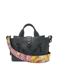 Kenzo Mini Kalifornia Gray Leather Handbag