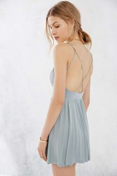 Silence And Noise Silence Noise Vanessa Cupro Romper Blue