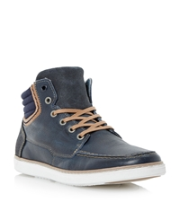 Dune Sammy Lace Up Casual Trainers Navy