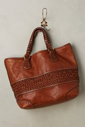 Anthropologie Theodora Woven Tote Bag Brown