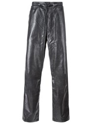 Telfar Drawstring Straight Trousers Metallic