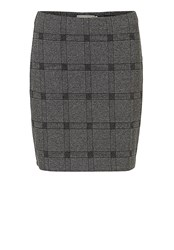 Betty And Co. Stretch Tweed Skirt Grey