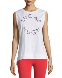 Lucas Hugh Logo Graphic Tank Top White
