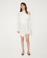 Jacquemus Le Robe Arlequin White Off White Blue Striped