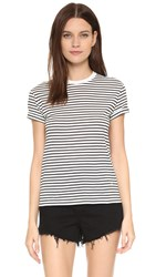 Alexander Wang Superfine Tee Ivory And Black