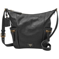 Fossil Emerson Small Leather Hobo Bag Black