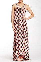 Go Couture Printed Hi Low Maxi Dress Multi