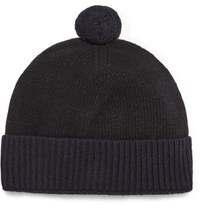 Oliver Spencer Eden Wool Bobble Hat Black