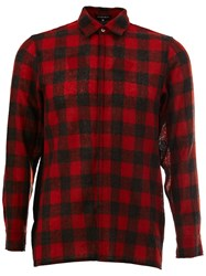 Ann Demeulemeester Plaid Shirt Red