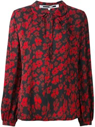 Mcq By Alexander Mcqueen Japanese Flower Print Blouse Black