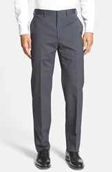 Men's Michael Kors Flat Front Stretch Wool Trousers
