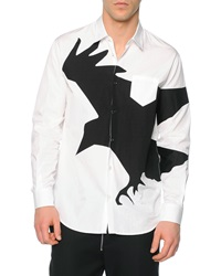 Dsquared Long Sleeve Crow Graphic Sport Shirt