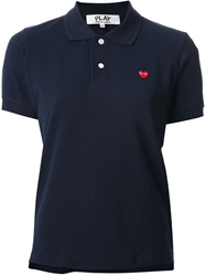 Comme Des Garcons Play Polo Shirt Blue