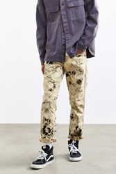 Urban Outfitters Crinkle Bleached Levi's 511 Slim Jean Black Multi