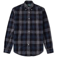 Gitman Brothers Vintage Japanese Flannel Check Shirt Grey