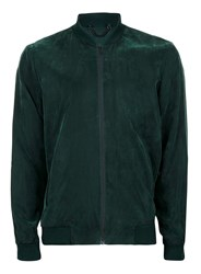 Topman Green Soft Touch Formal Bomber Jacket