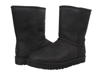 Ugg Classic Short Deco Black Leather Men's Pull On Boots