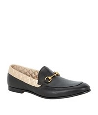 Gucci Satin Lined Leather Horsebit Loafer Black