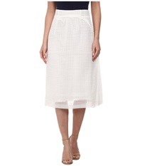French Connection Space Lace Skirt Summer White Women's Skirt