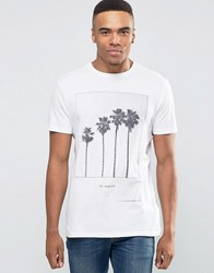 New Look White T Shirt With Palm Tree Print White