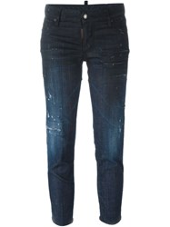 Dsquared2 Cropped Skinny Jeans Blue