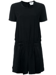Dkny Pleated Shorts Playsuit Black